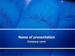 ecg in blue powerpoint template backgrounds 02617