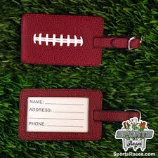 themed luggage tags football luggage tag
