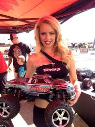 monster truck rc nitro traxxas lauren with the t maxx at nhra pomona rc nitro