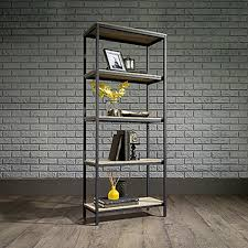 Sauder Bookcase With Glass Doors by Sauder North Avenue Charter Oak 5 Shelf Bookcase 420277 The Home