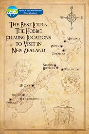 map from lord of the rings lord of the rings the hobbit filming locations kayak new zealand