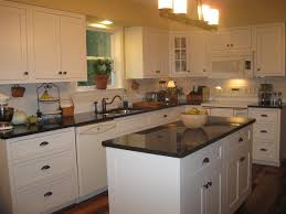 White Kitchen Cabinets Granite Countertops by Kitchen White Cabinets With Brown Granite Countertops Eiforces