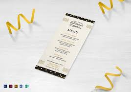 menu design for dinner party birthday dinner party menu design template in psd word publisher