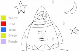 coloring pages and number recognition with this fun rocket color