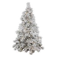 7 5ft flocked alberta pine cone artificial tree