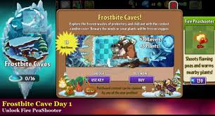 plants vs zombies 2 frostbite caves day 1 new zombies updated