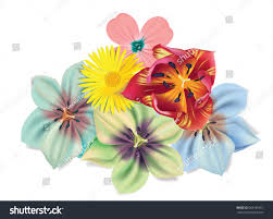 beautiful bouquet flowers vector summer flowers stock vector