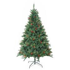 jeco inc pre lit 7 green berrywood pine artificial christmas
