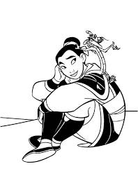 mulan mushu join army coloring download u0026 print