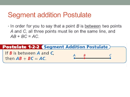 Segment Addition Postulate Worksheet Chapter Measuring And Constructing Segments Ppt