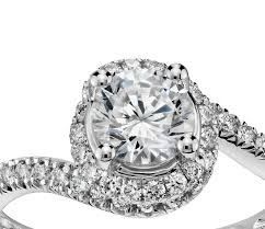 crystal pave rings images 1 2 ct tw halo pav cubic zirconia engagement ring in 14k white jpg
