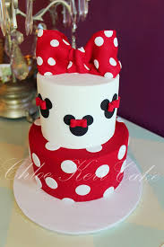 Red Minnie Mouse Cake Decorations Minnie Mouse Cake In Red Black And White Chloe Kerr Cakes