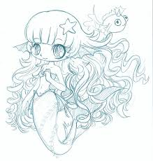 mermaid chibi sketch by yampuff on deviantart