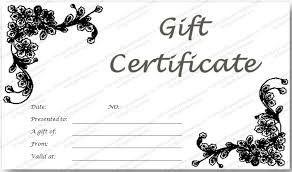 create a gift card black glades gift certificate template