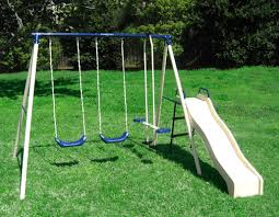 Flexible Flyer Lawn Swing Frame by Flexible Flyer Swing N Glide Gym Swing Set U0026 Reviews Wayfair