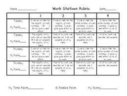 math work stations rubric assessment planning juxtapost