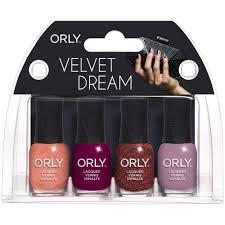 orly velvet dream 2017 nail polish collection mini kit
