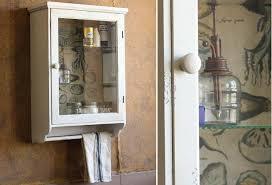 Bathroom Wall Cabinet With Towel Bar Vintage Medicine Cabinet Glass Door Wall Cabinet Antique Farmhouse