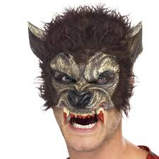 smiffys werewolf half face mask brown 5 99 a great collection