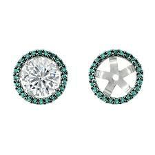 diamond earring jackets blue diamond earring jackets