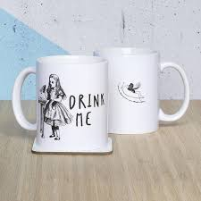 alice and wonderland home decor alice in wonderland u0027drink me u0027 mug by oakdene designs