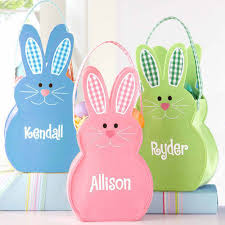 bunny easter basket personalized felt bunny easter basket walmart