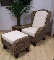 driftwood wing chair and ottoman wickerworld