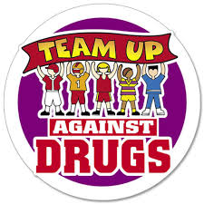 team up against drugs stickers on a roll positive promotions