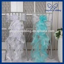 chair sashes wholesale ch098d wholesale cheap fancy turquoise white organza