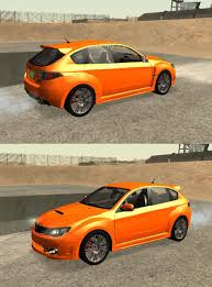 orange subaru wrx gta gaming archive