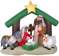 christmas inflatables 6 airblown holy family nativity christmas