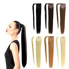 ponytail extension 14 32 inch wrap around clip in human hair ponytail extensions