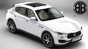 maserati white 2017 maserati levante 2017 3d model