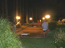Outdoor Court Lighting by Lighted Bocce Court Life Outdoors Pinterest Bocce Court