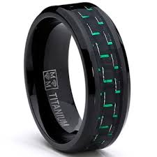 black titanium oliveti men s black plated titanium black green carbon fiber