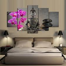 online get cheap japanese wall art aliexpress com alibaba group 5 panel hd printed painting japanese zen garden canvas home decor wall art picture for living