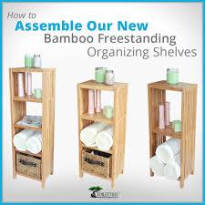 Bathroom Standing Shelves by Freestanding Bamboo Bathroom Organizing Shelves Diy Kit