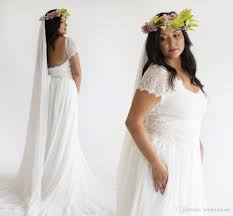 discount plus size fairy bohemian a line full lace wedding dresses