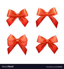 christmas gift bows ribbons set for christmas gifts gift bows vector image