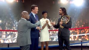 Today Show by Wwe Champ Seth Rollins Puts Today Anchors In The Ring After Big