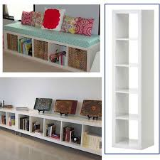 bookcase bench ikea expedit bookcase white multi use easily turn this bookcase on