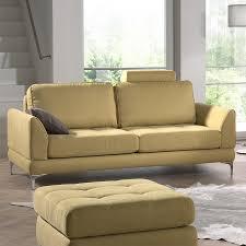 canap 3 places fixe canape 3 places moutarde en tissu sofamobili