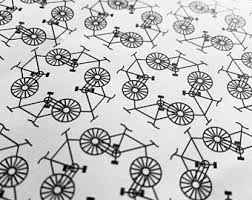 bicycle wrapping paper bike wrapping paper etsy