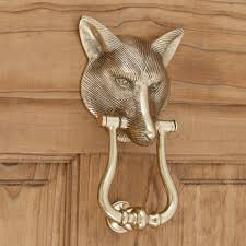 Great Knockers Brass Fox Door Knocker Door Knockers Hardware