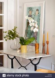 Dining Room Side Table White Orchid On Dining Room Side Table Stock Photo 75289415 Alamy