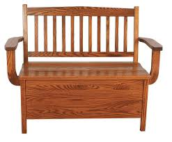 mission oak benches indoor furniture wooden storage new ebay small