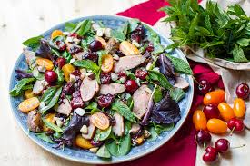 duck in cuisine must try duck salad with balsamic cherries eat drink paleo