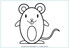 coloring page of a rat rat colouring pages