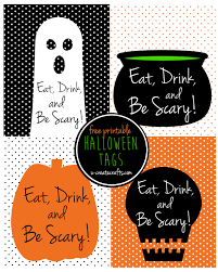 eat drink and be scary halloween printable tags