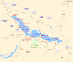 lake pleasant map theodore roosevelt lake arizona